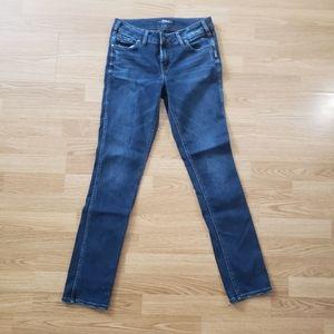 SILVER ELYSE straight leg dark wash jeans 27/28